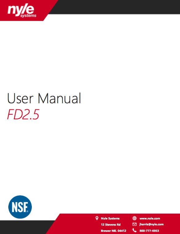 FD 2.5 Manual