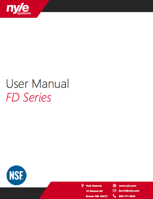 FD Series Manual