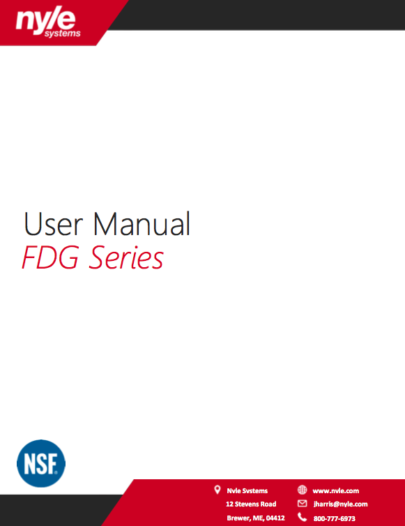 FDG Series Manual