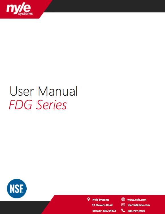 FDG Series Manual
