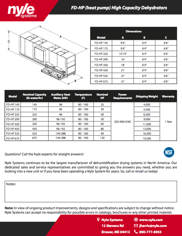 FD-HP Spec Sheet