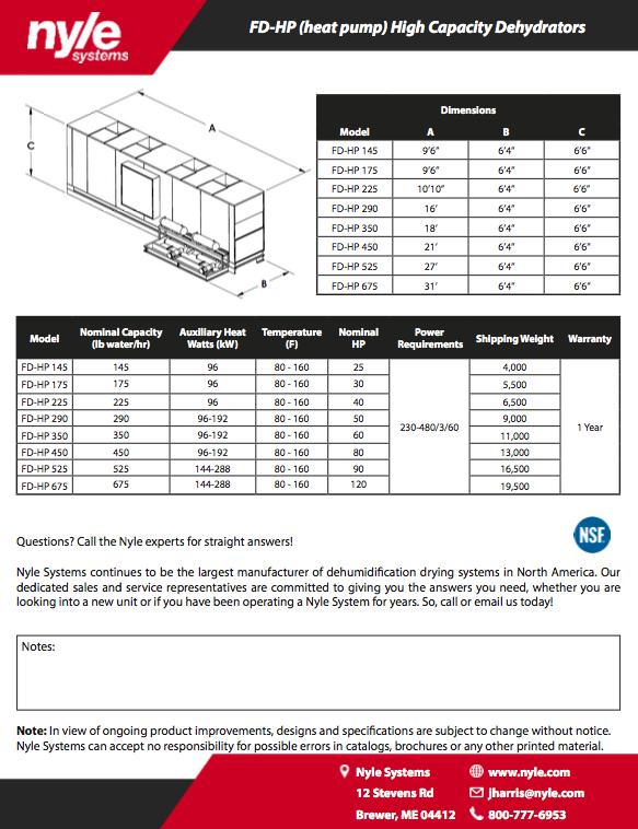 FD-HP Spec Sheet