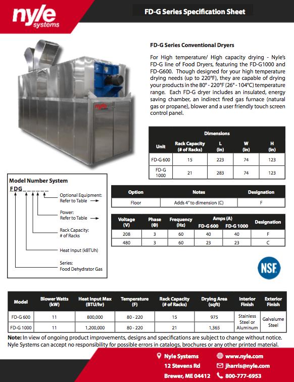 FD-G Spec Sheet