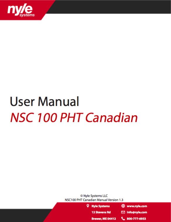 NSC 100 PHT Canadian Manual