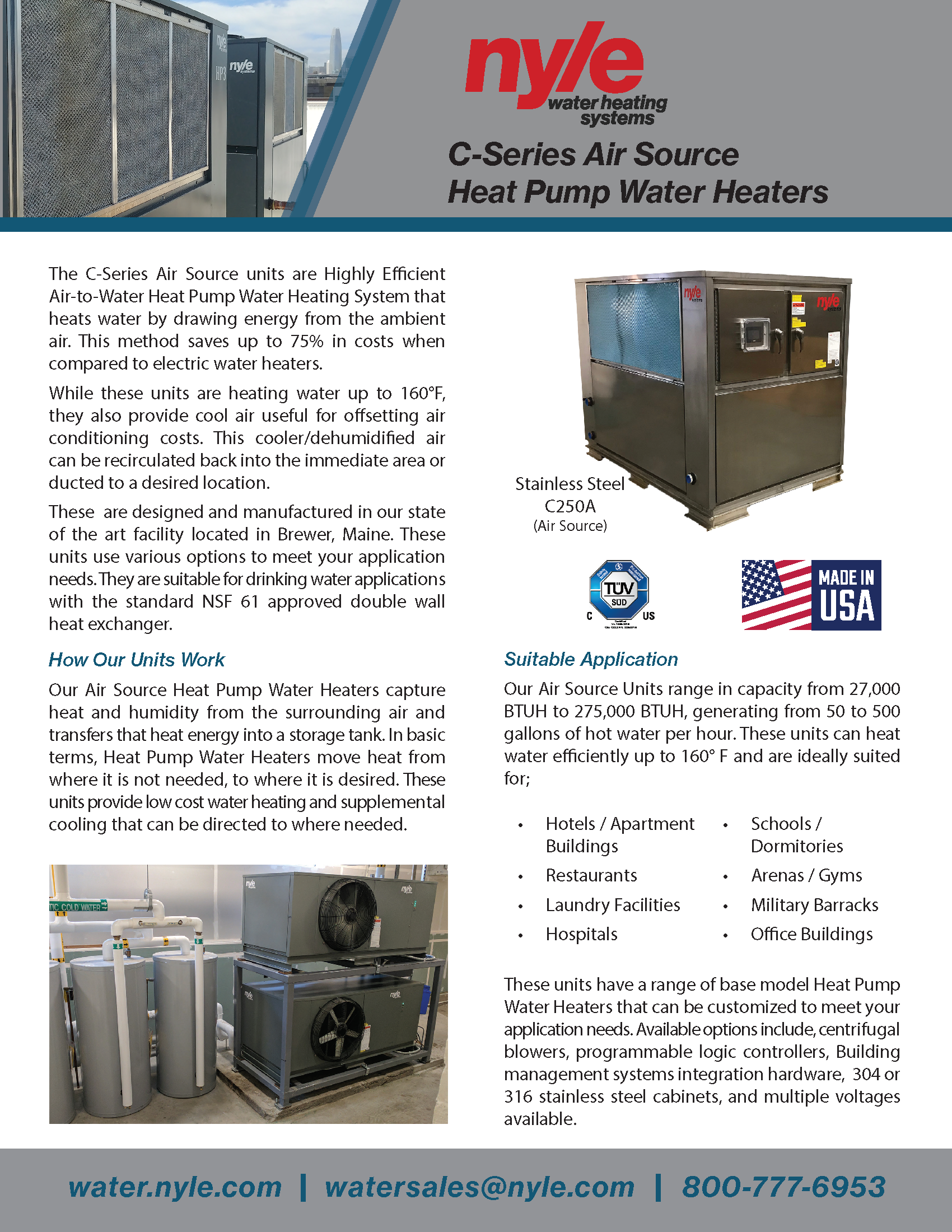 C-Series Air Source Sales Sheet