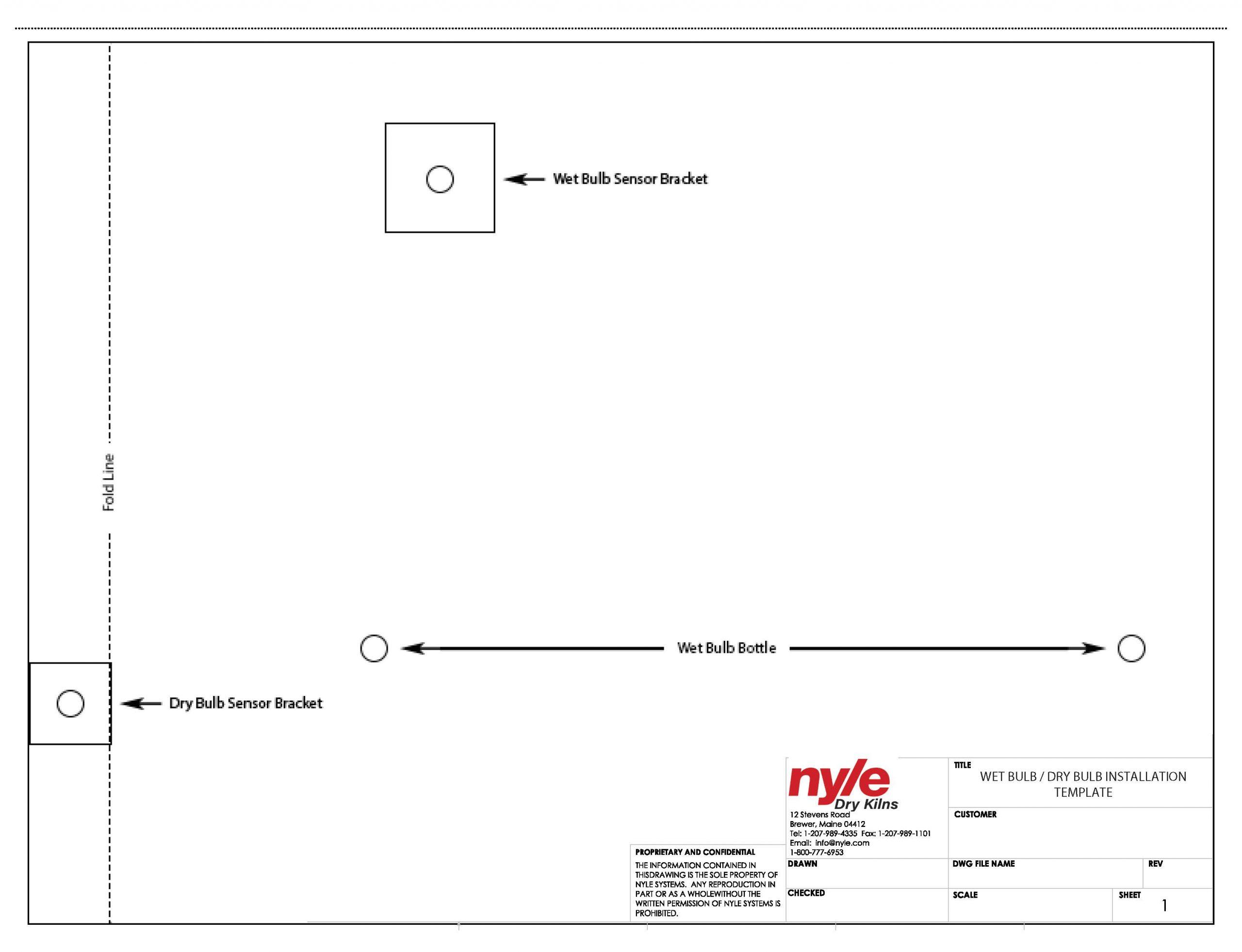 Wet Bulb / Dry Bulb Installation Template