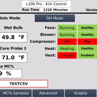 L200 Pro Control - Main Screen