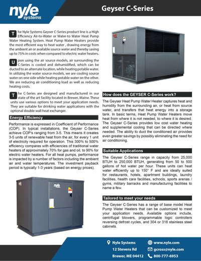C-Series Sales Sheet