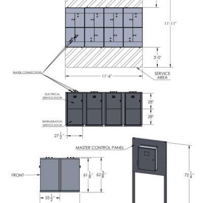 C2160WM Dimension Sheet 2x4 Layout