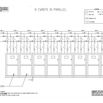 C2160WM In-Parallel Piping 1x8 layout