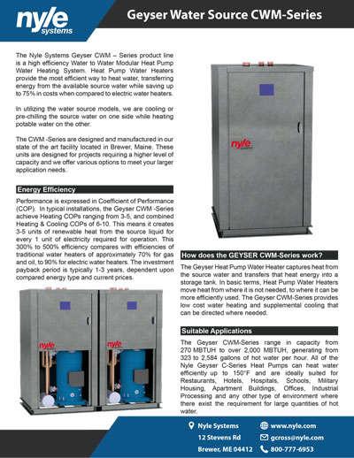 CWM-Series Sales Sheet